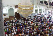 Friday prayers by Muslims